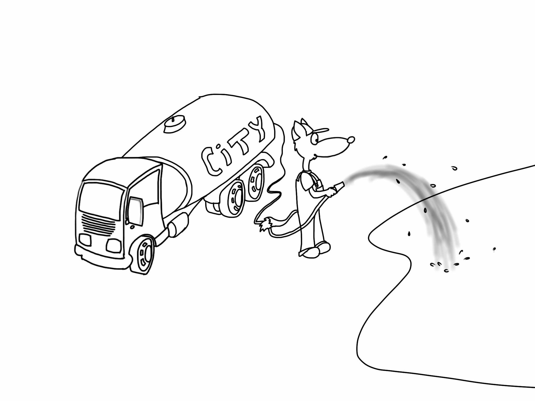 water truck coloring pages - photo#12